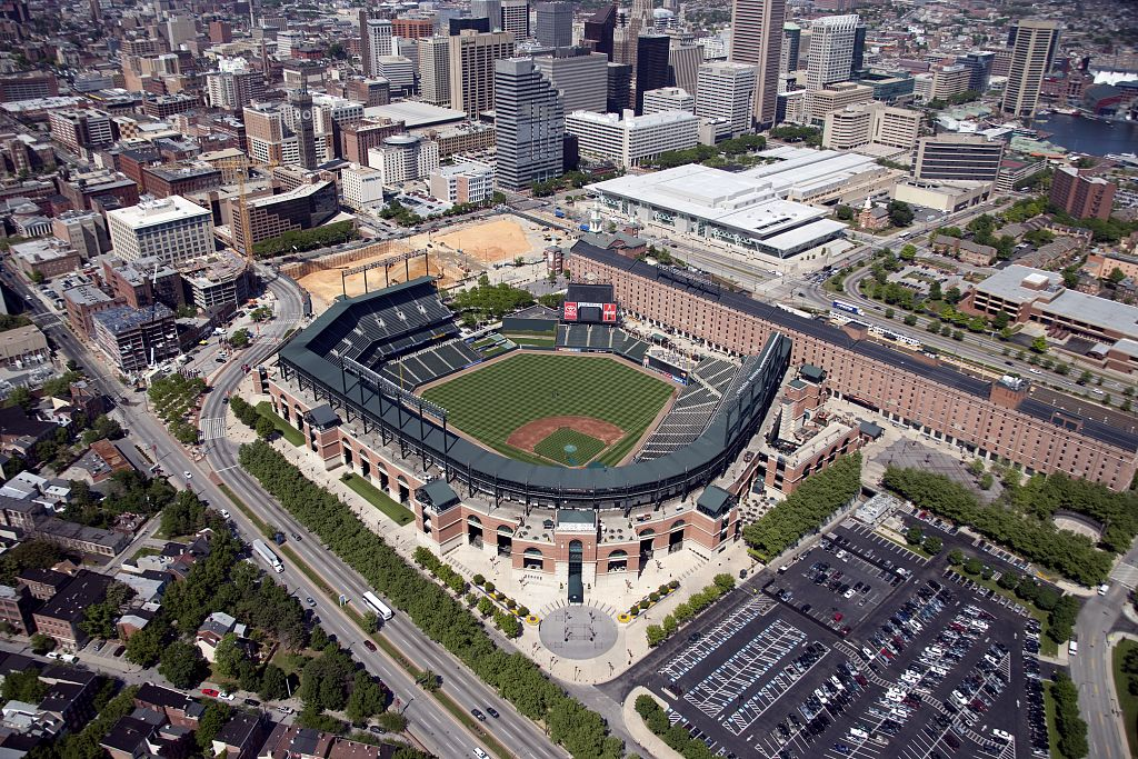 Photograph of Camden Yards, 2006 by Carol Highsmith. Courtesy LOC, LC-DIG-highsm-04854