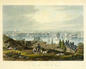 Baltimore from Federal Hill, ca1822