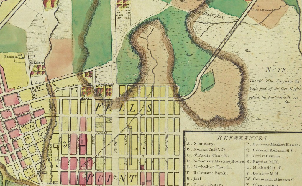 Excerpt from 1801 Map of Baltimore
