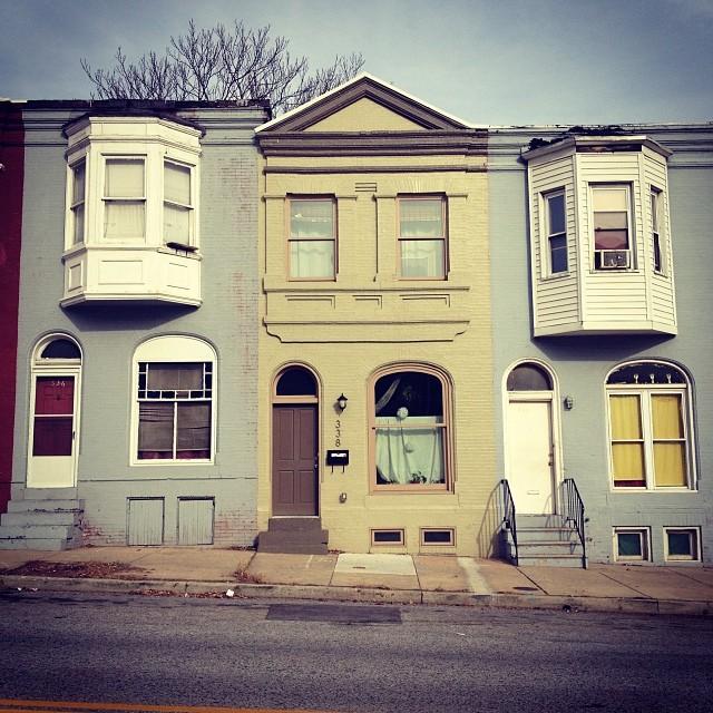 Federal Street at Barclay Street, Baltimore. Photograph by Jennifer A. Ferretti, 2013.