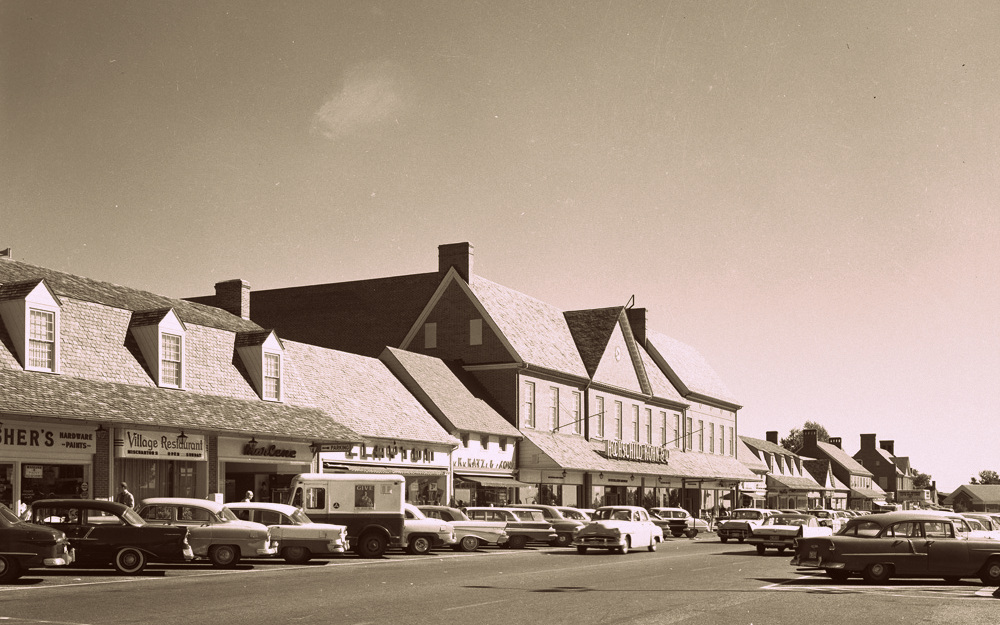 Edmondson Village Shopping Center, June 1962. Courtesy Baltimore County Public Library, 6921046.
