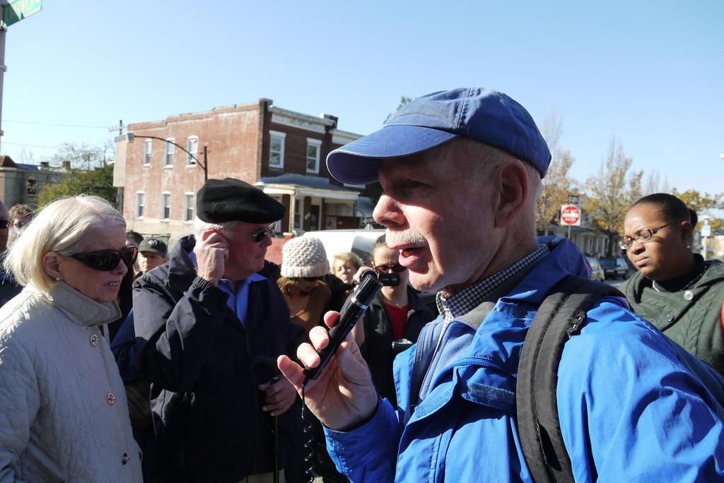 Dr. Ed Orser at Lauretta Avenue, October 23, 2010.