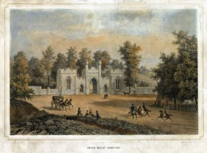 Learn more about the history of Green Mount Cemetery from Explore Baltimore Heritage.  Image courtesy Enoch Pratt Free Library.