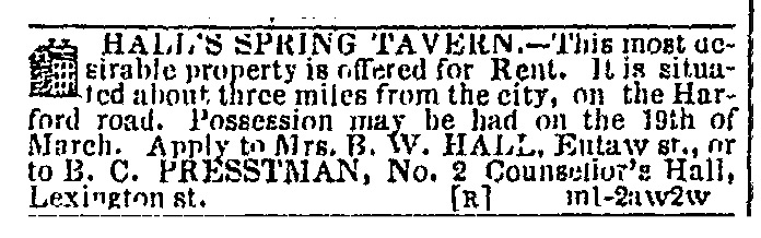 Baltimore Sun, 14 March 1849