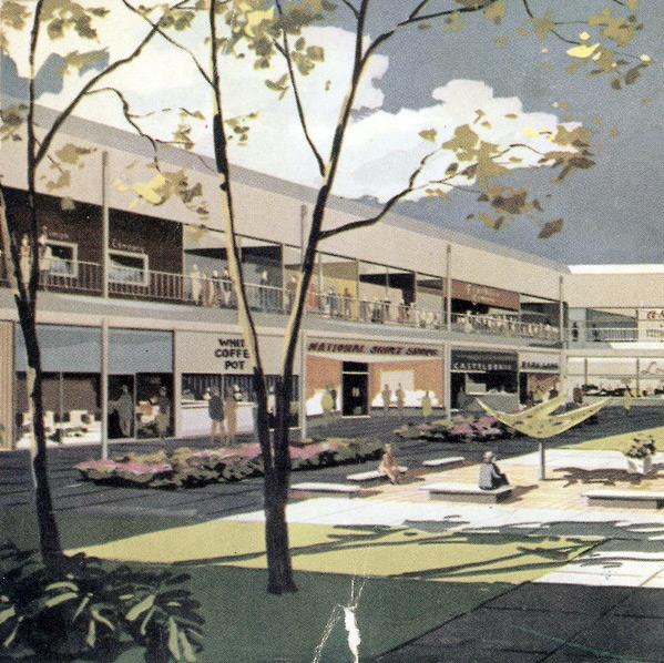 Historic postcard view of Mondawmin Mall. Courtesy Jell-O Biafra/Tumblr.