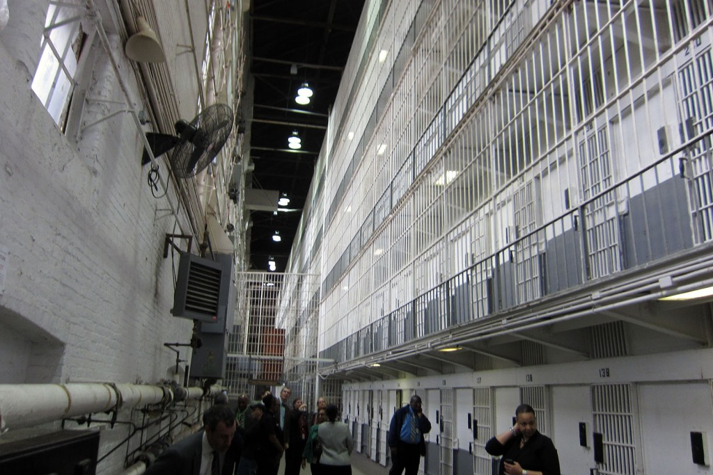 Interior of the west wing of the Maryland Penitentiary, March 2016. Photograph by Johns Hopkins.