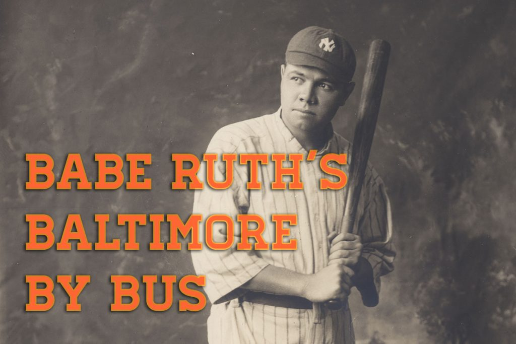 Portrait of Babe Ruth standing with a bat
