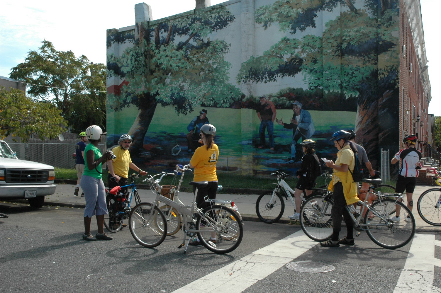 West baltimore murals and history by bike baltimore heritage for Baltimore mural program