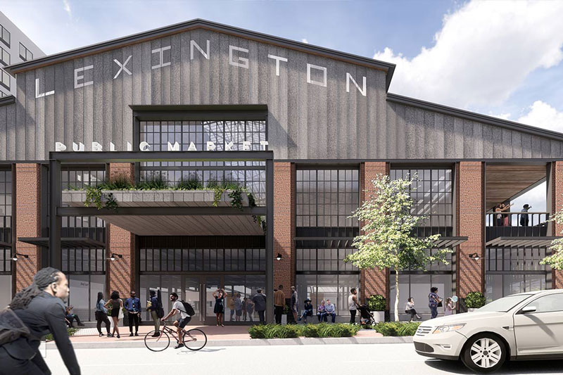 Exterior rending of a redesigned Lexington Market