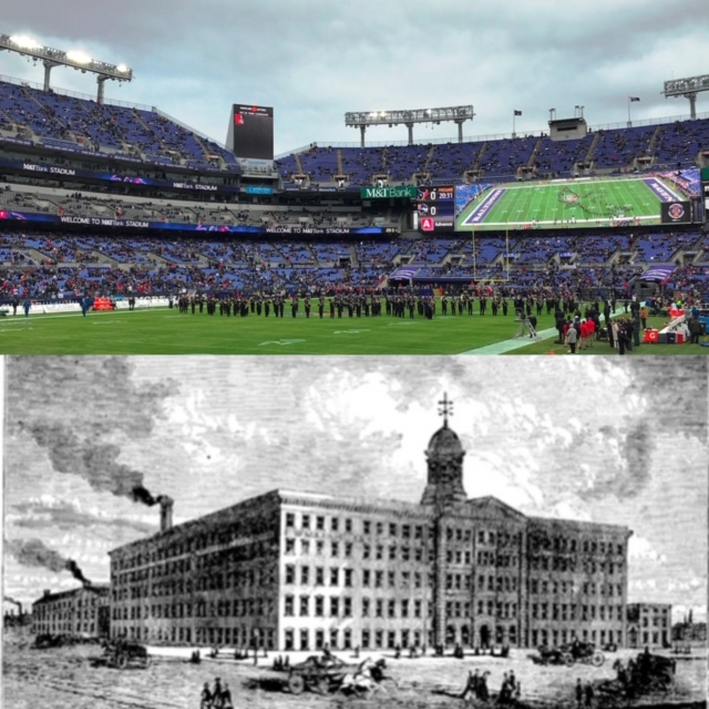 From Pianos To Pigskins Ravens Stadium Then And Now Baltimore Heritage